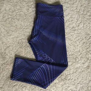 Fabletics Purple Geometric Cropped Leggings